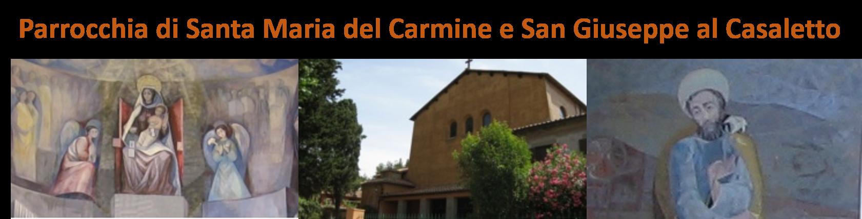 Sito Web della Parrocchia di Santa Maria del Carmine e San Giuseppe al Casaletto in Roma